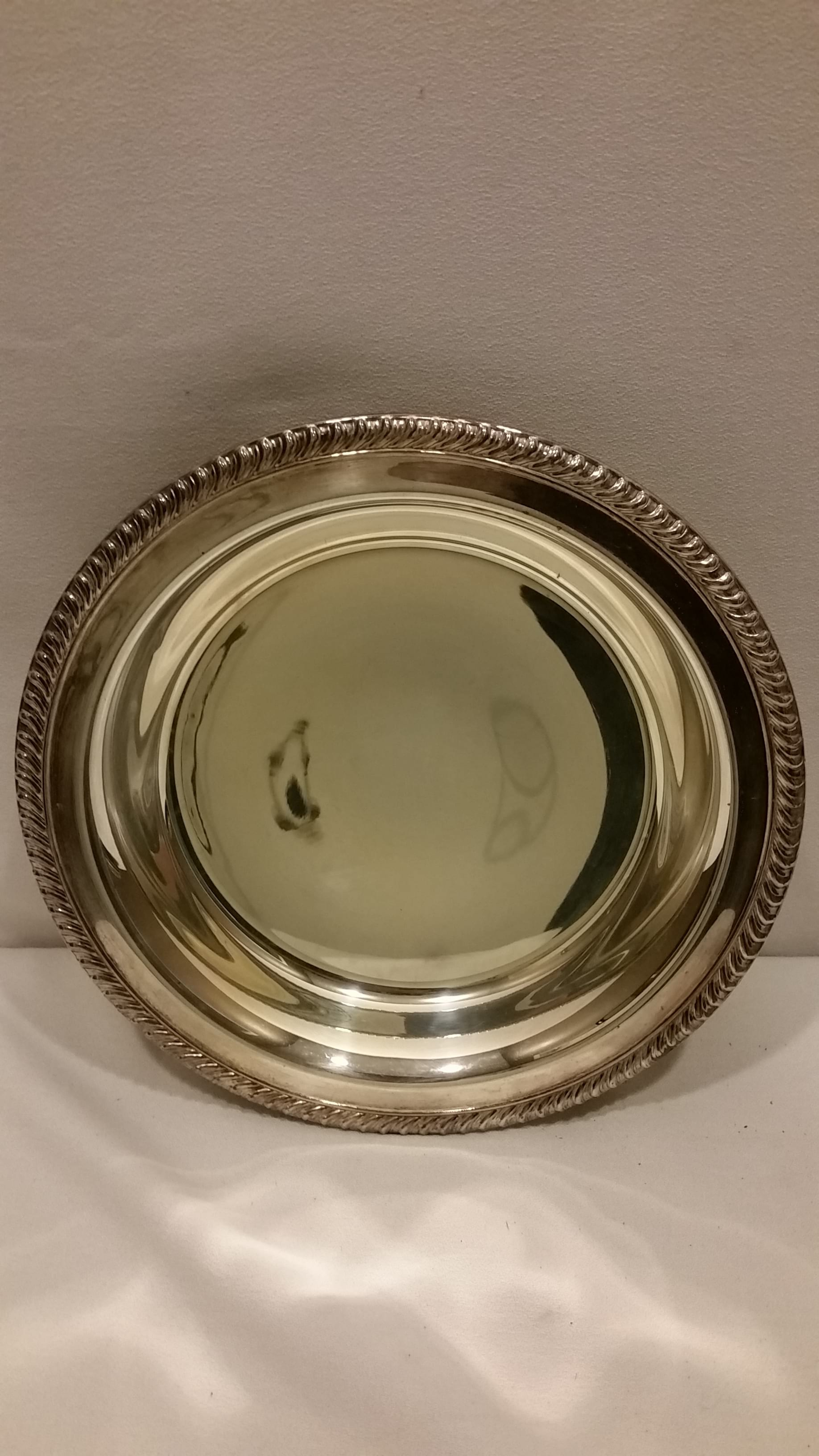 Tray - Silver Round Three Footed Bowl