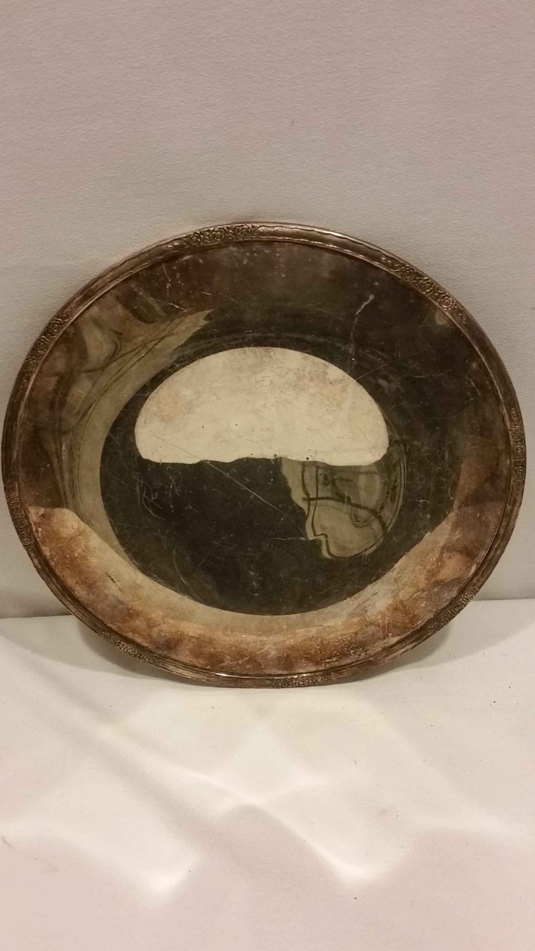 Tray - Silver Tarnished Smooth