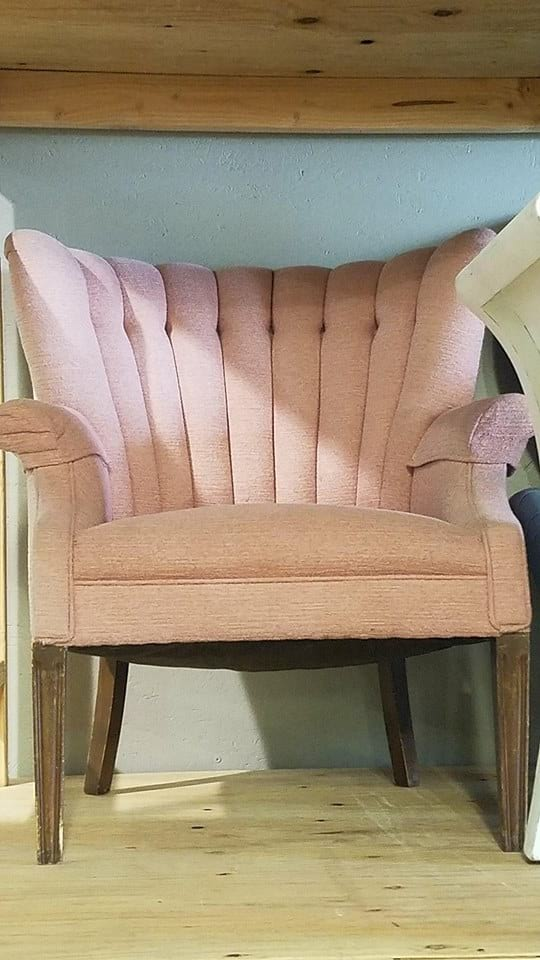 Chair - Blush Large Wingback
