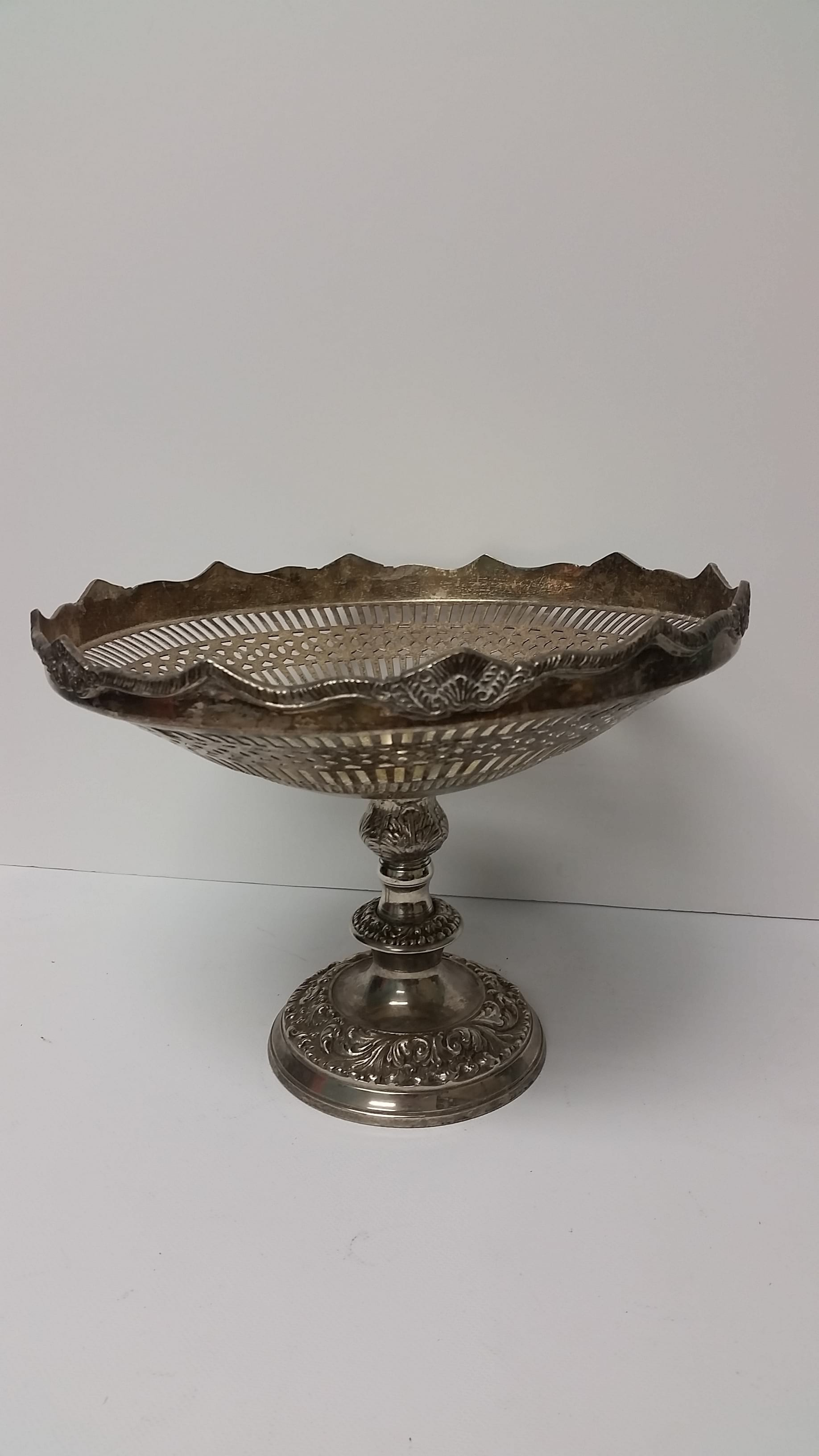 Candle Holder - Silver Pedestal Candlestick