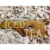 S249 ICED TEA WOOD SIGN