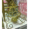 D723 Gold Carriage Candle Holder