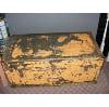 h6 vintage yellow metal trunk
