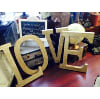 S371 Giant  Love gold letters