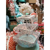 z257 3-tiered lace filligree stand 11x17