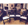 FF71 Wood Antique Chair with Lace cushions