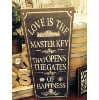 s96 Love is the master key sign
