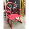 FF140 Kids Red Vintage Rocking Chair