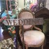 s469 metal welded wedding directional sign