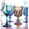 t14 vintage colored goblets
