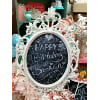 c197 oval white ornate chalkboard