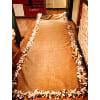 cr16 burlap aisle runner with rag garland fringed edge