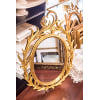c230 oval vintage gold mirror