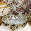 X76 crystal bowl with wire basket frame