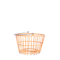 Orange wire basket
