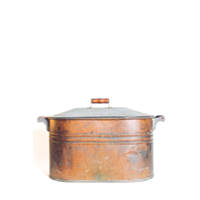 Copper tub with top and handles