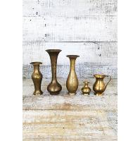 Brass Bud Vases
