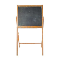 Small freestanding chalkboard