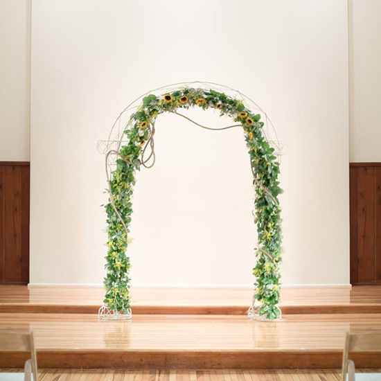 White Metal Garden Arch