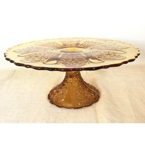 Daisy Light Gold Cake stand