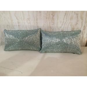 Aqua Sequined Pillow