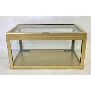 RECTANGLE BRASS AND GLASS BOX