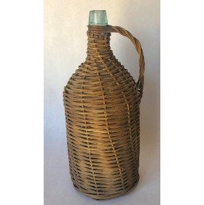 wicker covered bottle