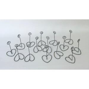 HASIA HEART SHAPED WIRE CARD HOLDER