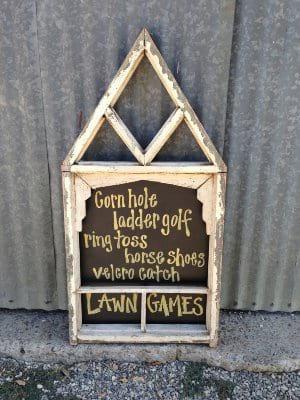 Vintage Window Frame Chalkboard