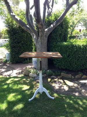 WALBY WOOD TOP TABLE