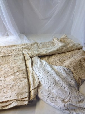 Vintage Lace Tablecloth