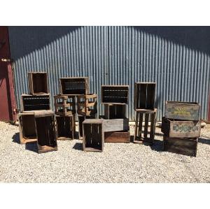 Large Vintage Wooden Crates