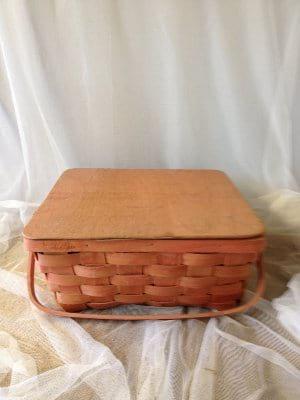 Flat Topped Picnic Basket