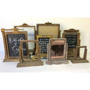 Vintage gold frame on stand