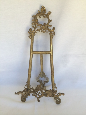 Fancy Brass Table Top Easel