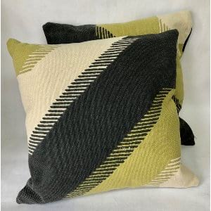 BLACK GREEN AND CREAM PILLOW