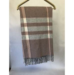 Pink and Gray Throw