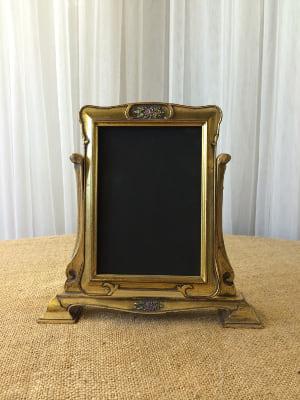Gold Standing Frame Chalkboard