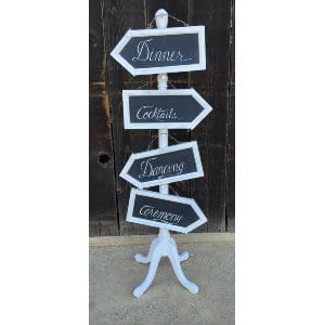 White Arrow Sign