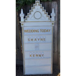 SOLENE White and gold Marquee Sign