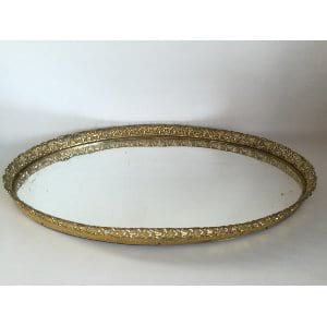 large gold mirrored tray 21