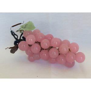 Soft Pink Glass Grapes