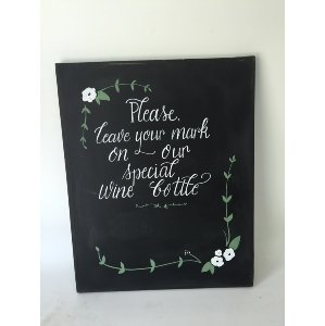 CHALKBOARD INSERT WINE BOTTLE SIGN