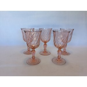 Pink  swirl  Goblets