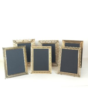 5 X 7 GOLD AND FILAGREED FRAMES