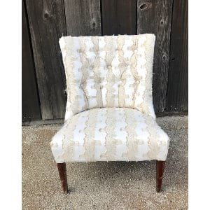 CALLAHAN WHITE AND GOLD SIDE CHAIR