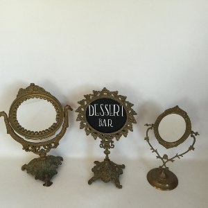 brass mirrored stands