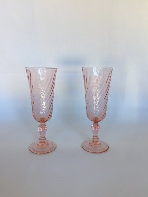 Pink Champagne Toast Glasses
