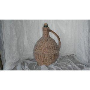 Vintage Wicker Chianti Bottle
