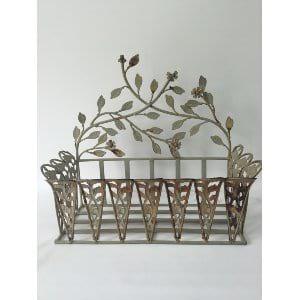 Leaf Design Metal Basket